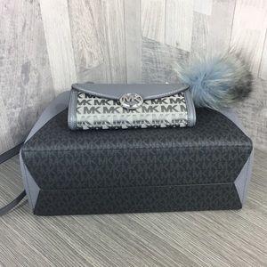 Michael Kors Bags - 3pcs Kimberly Satchel & Fulton Wallet & Charm Fur